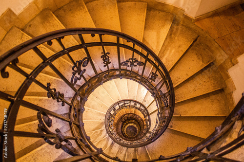 Old vintage spiral staircase Wallpaper Mural