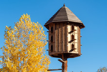 The Wooden Dovecote On The Bac...