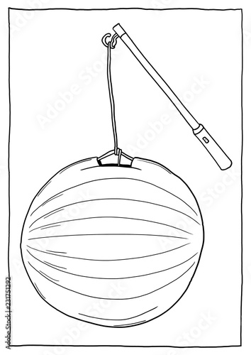 Laterne Ausmalbild Buy This Stock Illustration And
