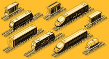 Railroad Transport, Train Elem...