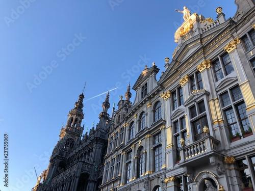 Bellissimi edifici della Grande Place, Bruxelles, Belgio