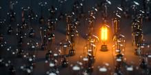 Eine Leuchtende Edison Glühla...