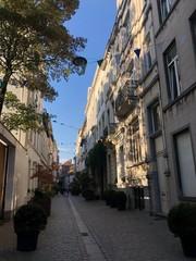 Fototapeta Strada del centro storico di Bruxelles, Belgio