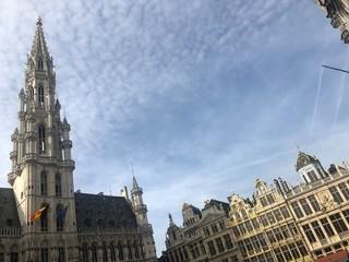 Fototapeta Grande Place in primavera, Bruxelles, Belgio