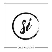 Initial Letter SI Logo Template Design Vector Illustration