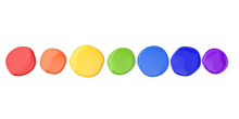 Set Of Colorful Round Stains O...