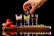 Three Alcohol Shooter Layered ...