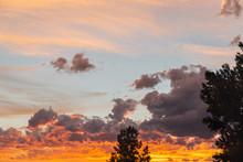 Orange Summer Sunset Over A Ho...