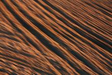 Abstract Of Freshly Tilled Soil And Farmland, Dusk