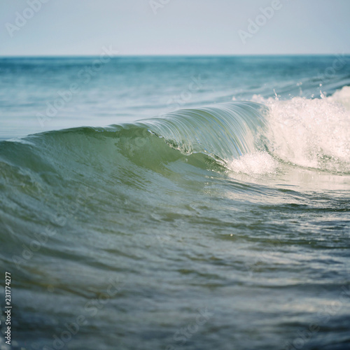 Keuken foto achterwand Water Close Up Of Gentle Waves On Lake Michigan On A Summer Morning