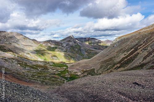 Foto  American Basin, Headed up Handies Peak, Colorado Rocky Mountains