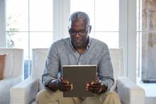 African American Senior Man Br...
