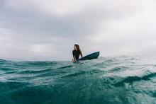Sportive Woman Posing On Board