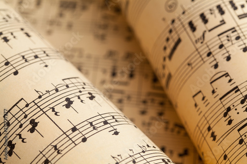 Canvas Print Music Rolls