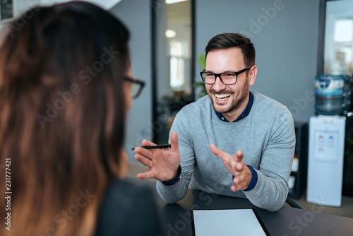 Fotografie, Obraz  Creative brainstorming meeting in the modern office.