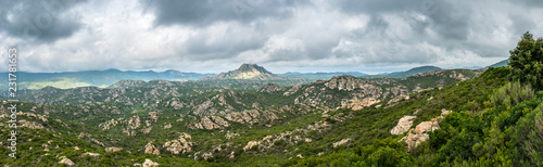 Fotografija Panoramic view of Monte Genova in the Desert des Agriates in the north of Corsica