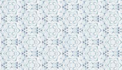 Naklejka 3D Complex volumetric seamless pattern 3D illustration