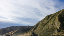 Landscape Image Of The Rocky Coastal Terrain Of Cape Palliser, New Zealand.