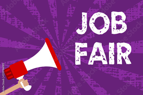 Foto  Text sign showing Job Fair