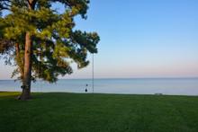 Waterfront Backyard Along The ...