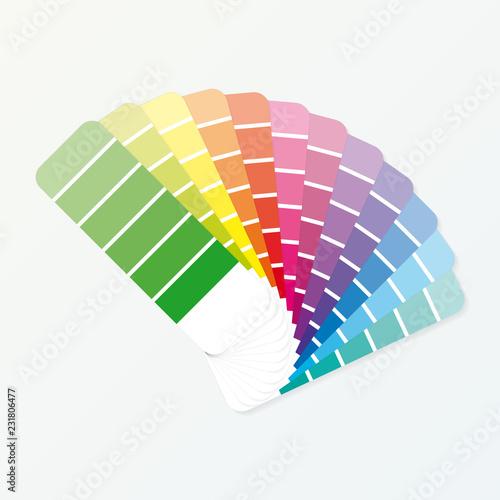 Fotografía Color palette guide on grey background. Vector illustration.