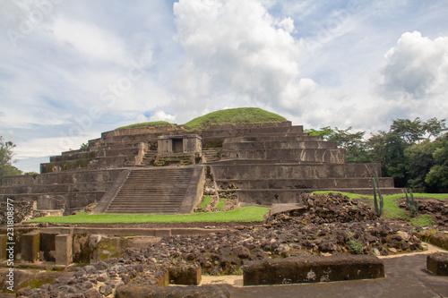 Fotografie, Obraz  The main pyramid at Tazumal, a pre-Columbian Maya archeological site in Chalchuapa, El Salvador