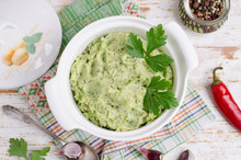 Mashed Potatoes With Green Pesto