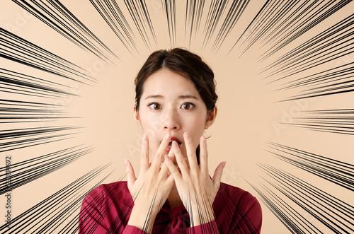 Fotomural びっくりする女性
