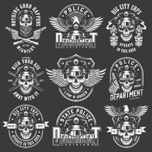 Vintage Policeman Logos Collec...