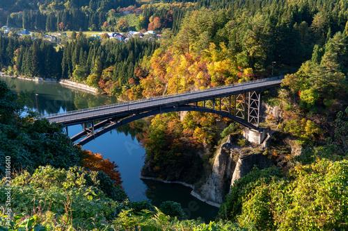 Fotografie, Obraz  福島の絶景秋の只見線