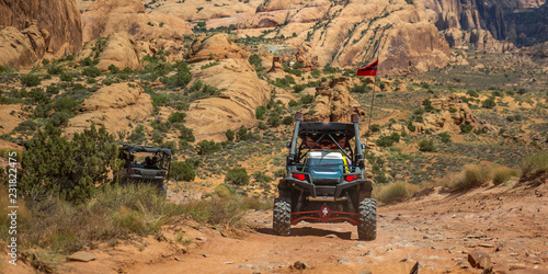 Stickers pour porte Pierre, Sable Off road views in the wilderness of Moab Utah