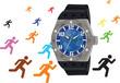 orologio da polso moderno per persone sportive