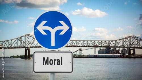 Schild 360 - Moral Canvas Print