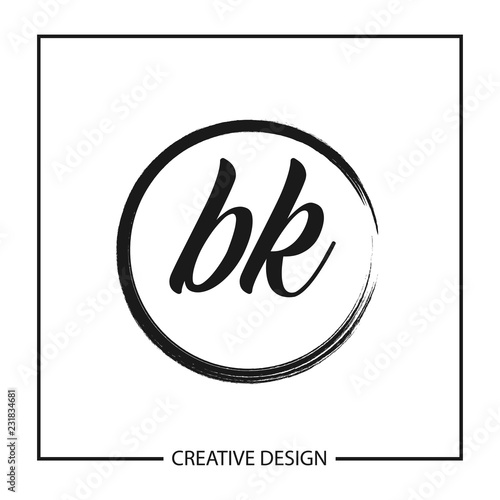 Initial Letter Bk Logo Template Design Vector Illustration