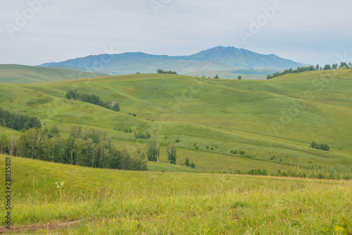 The hills and roads in the Altai