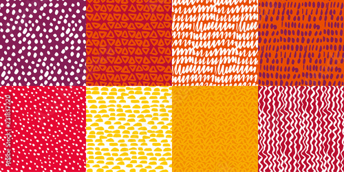 Colorful kiddy background set.