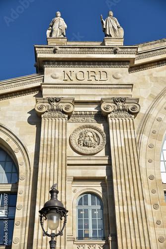 In de dag Noord Europa Gare du Nord à Paris, France