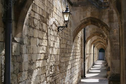Canvas Print Die Curle's Passage der Kathedrale von Winchester