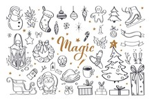 Big Set Of Christmas Design Do...