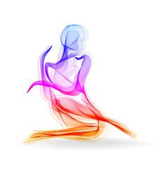 Fototapeta Taniec / Balet Woman dancer, ballerina, elegant silhouette