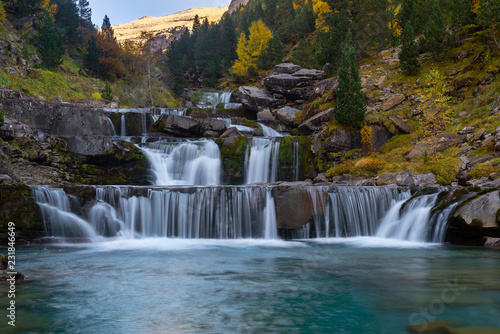 Gradas De Soaso, Falls on Arazas River , Ordesa National Park, Huesca, Spain