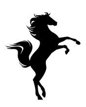 Standing Mustang Horse Black V...