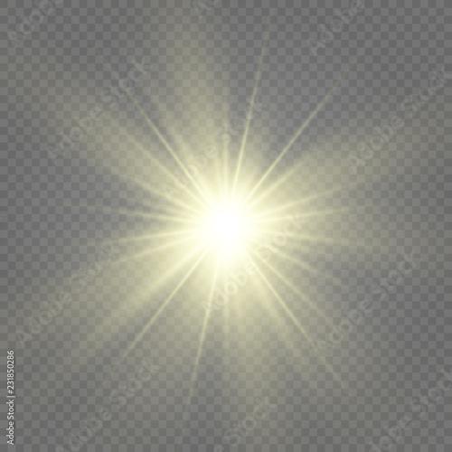 Fototapeta White sparks glitter special light effect. Vector sparkles on transparent background. Christmas abstract pattern. Sparkling magic dust particles obraz na płótnie