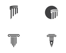 Column Icon Logo Template Vector