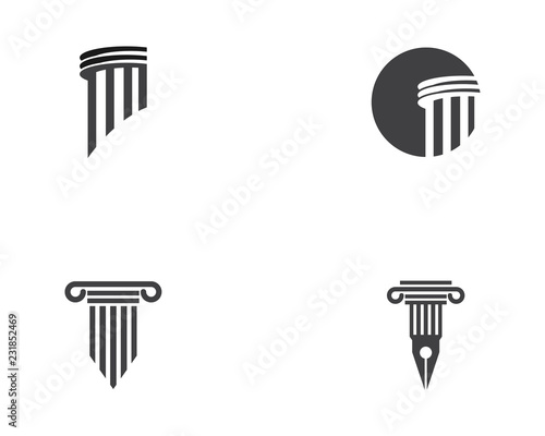 Foto Column icon Logo Template vector