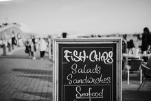 Blackboard With Restaurant Men...