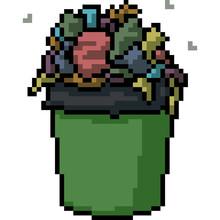 Vector Pixel Art Garbage