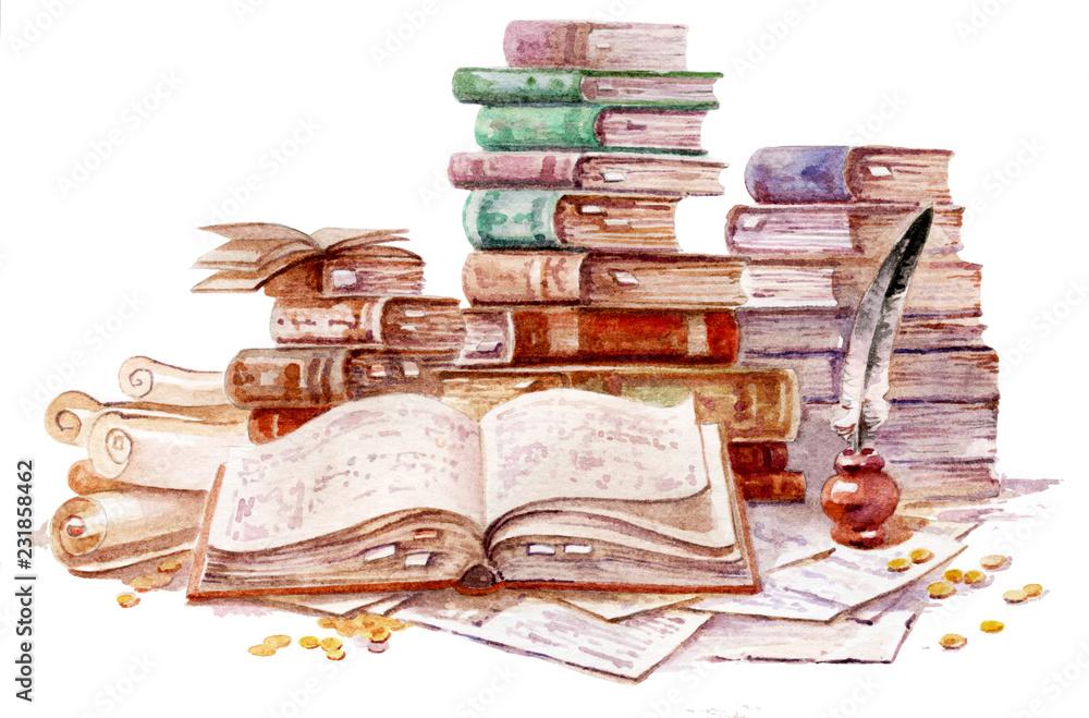 Fototapety, obrazy: old book