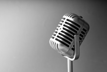 Retro Style Microphone In Party Or Concert