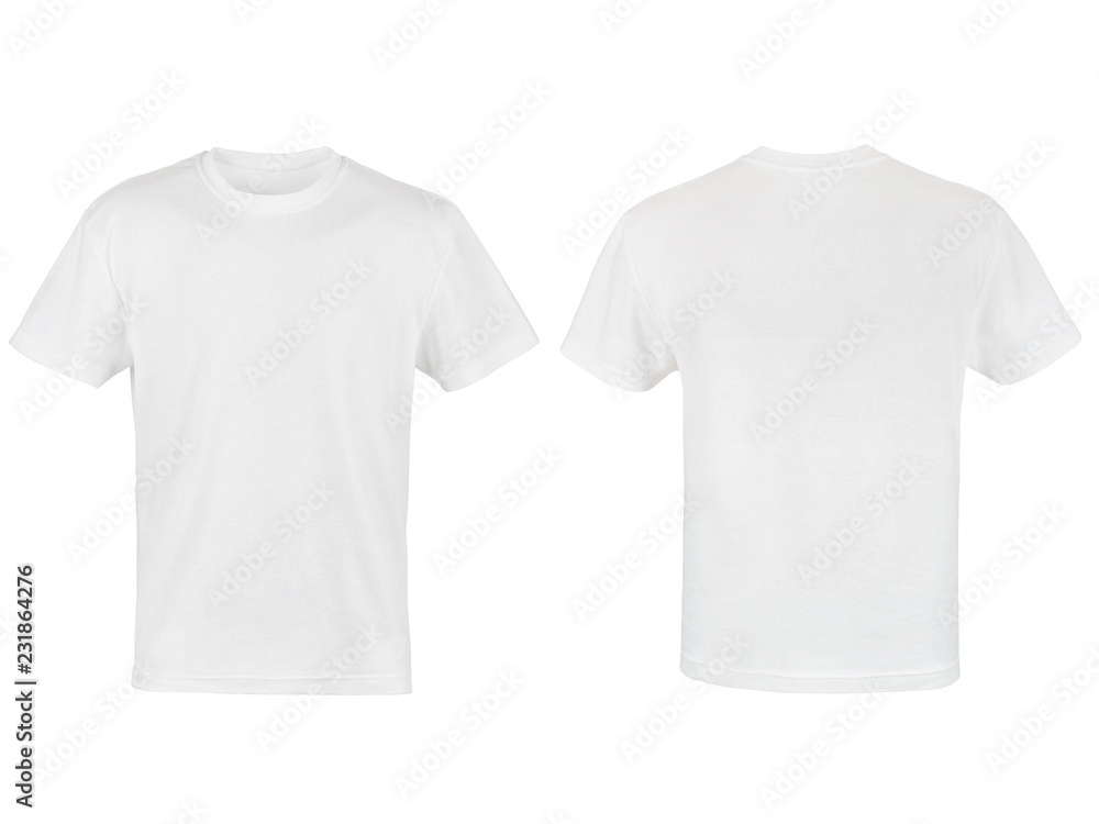 Fototapety, obrazy: two white T-shirt isolated